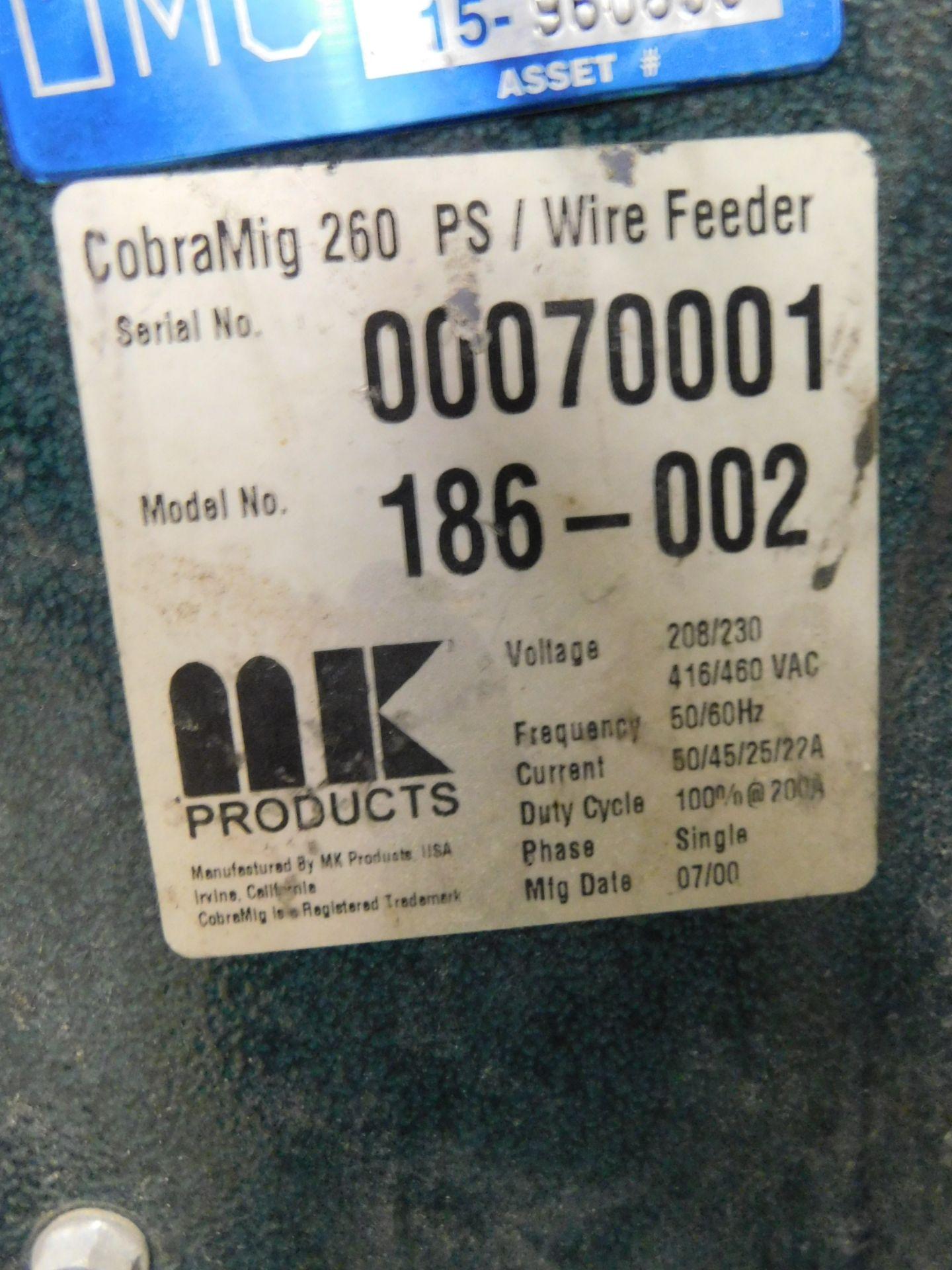Lot 8 - Cobra Mig 20 Mig Welder, SN 00070001, Mig Gun, 208/230V, 1 phase, Lot Location: 301 Poor Dr.,