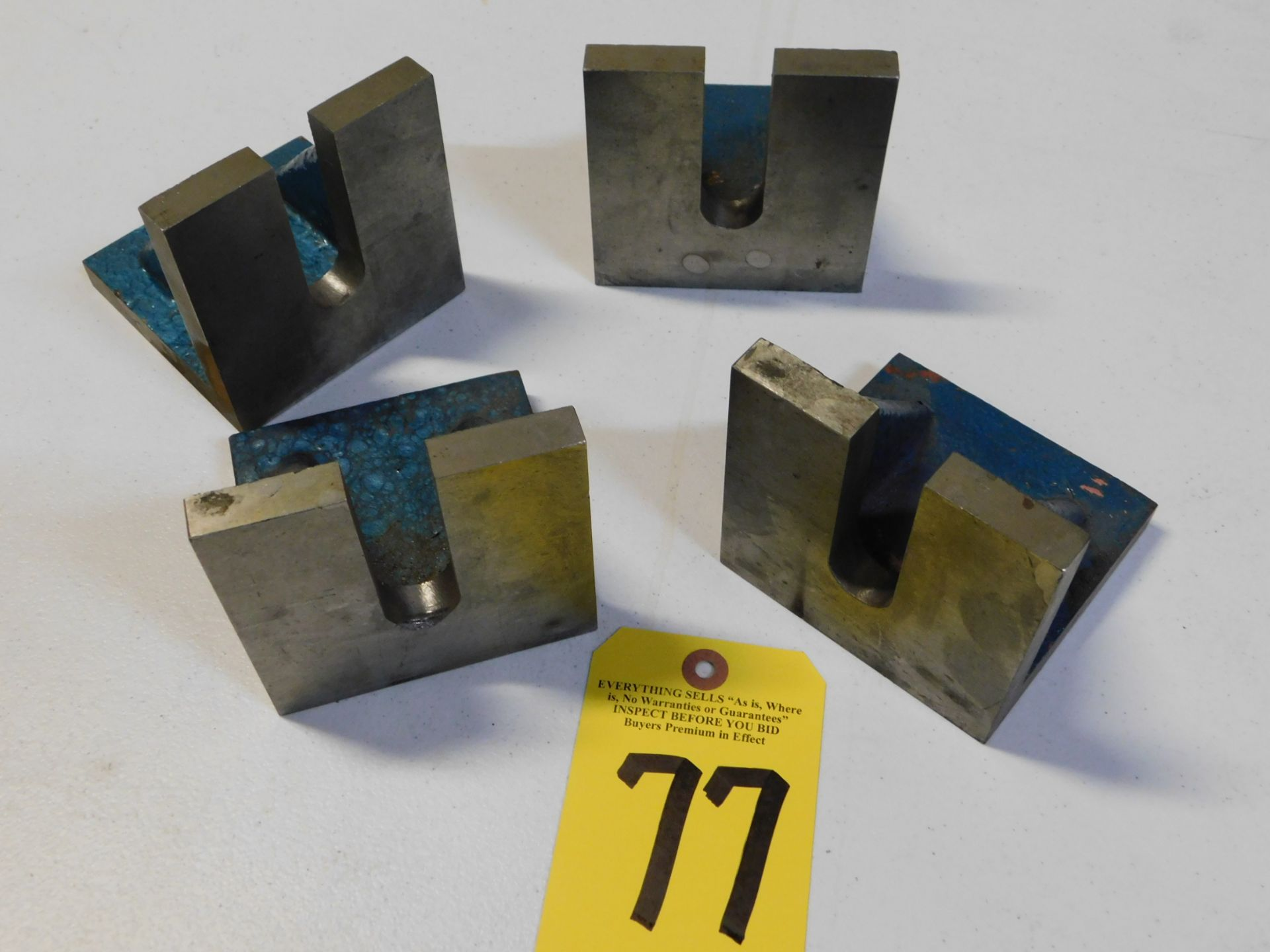 "Lot 77 - (4) Angle Plates, 4"" x 4"" x 4"", Lot Location 3204 Olympia Dr. A, Lafayette, IN 47909"