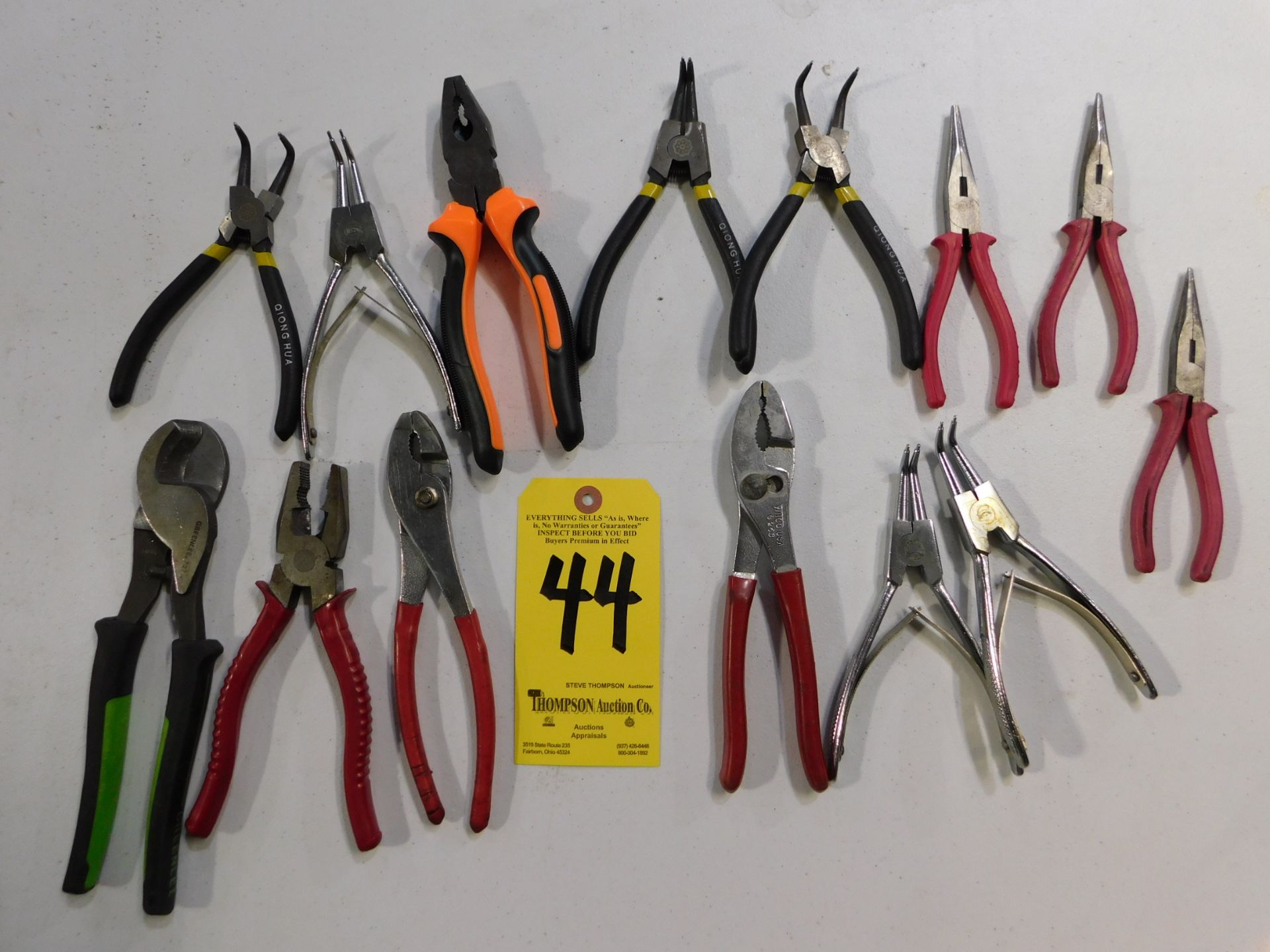 Lot 44 - Miscellaneous Pliers, Lot Location 3204 Olympia Dr. A, Lafayette, IN 47909