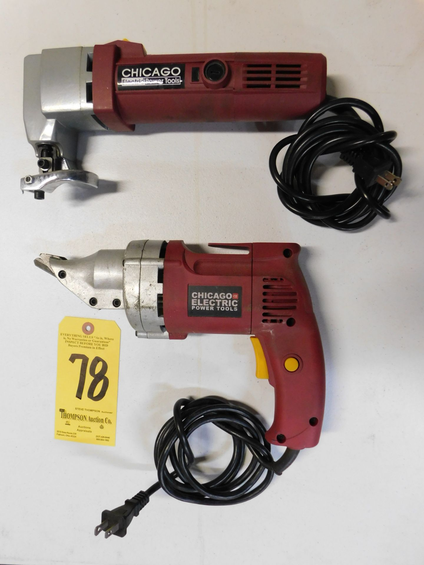 Lot 78 - Chicago Electric Shear and Swivel Head Shear, Lot Location 3204 Olympia Dr. A, Lafayette, IN 47909