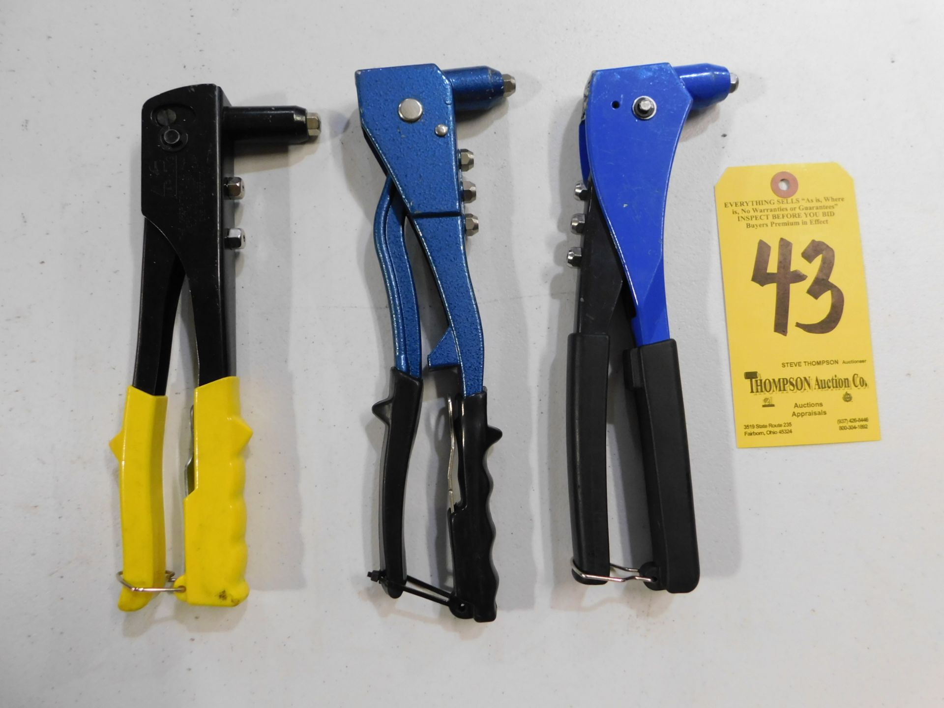 Lot 43 - Pop Rivet Tools, Lot Location 3204 Olympia Dr. A, Lafayette, IN 47909