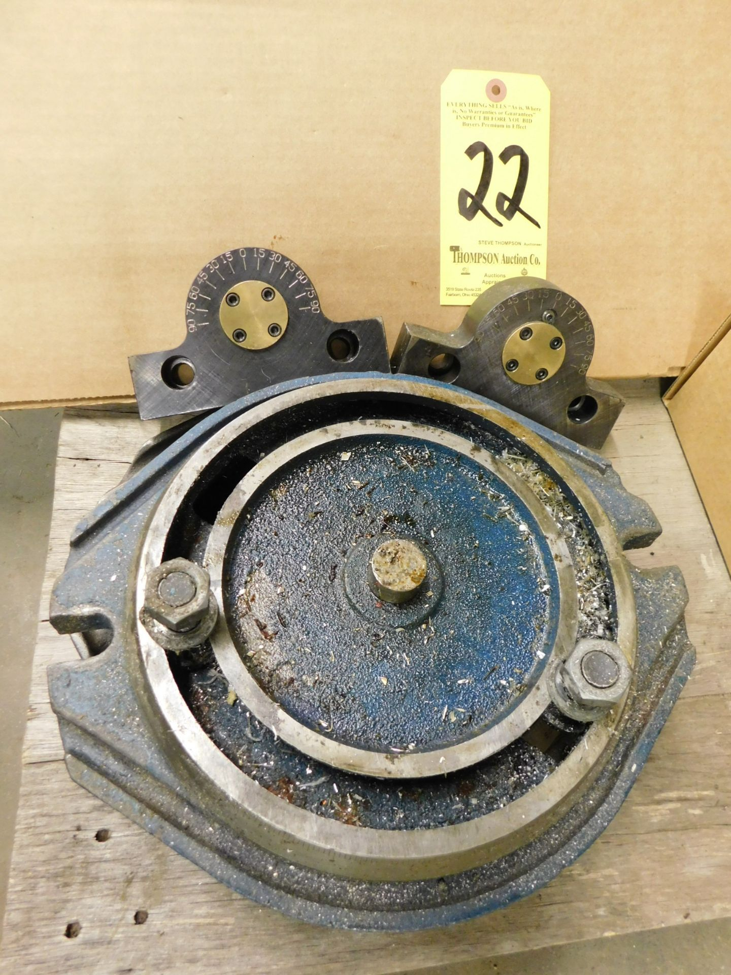 Lot 22 - (2) Mill Vise Swivel Bases, and Kurt #K5CVMAB 5C Angle Boss, Lot Location: 301 Poor Dr., Warsaw, IN,
