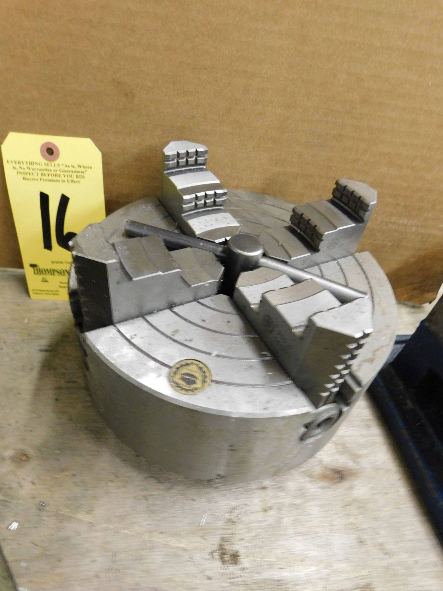 """Lot 16 - 8"""" 4-Jaw Chuck, D1-4 Mount, Lot Location: 301 Poor Dr., Warsaw, IN, 46580"""