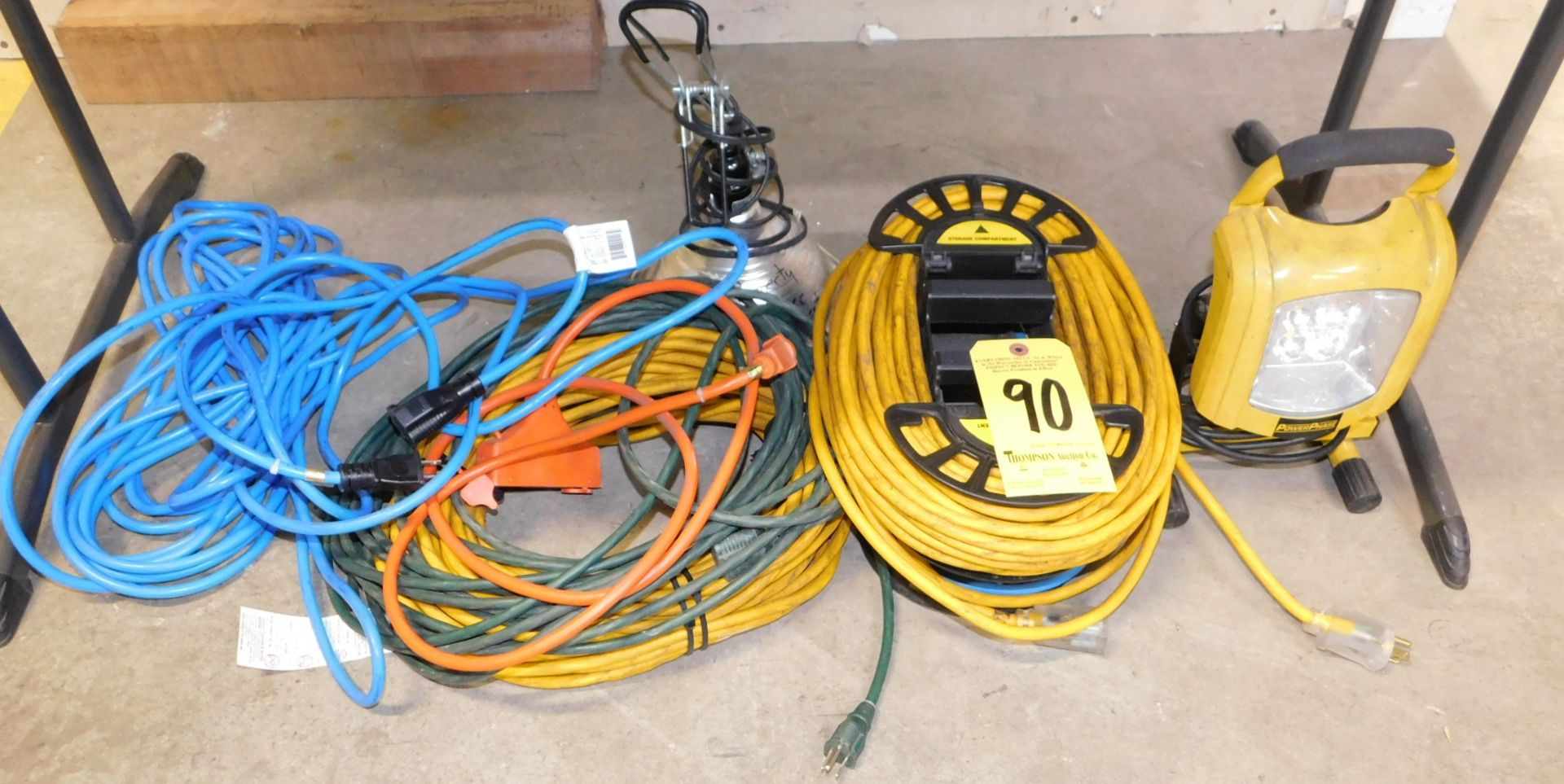 Lot 90 - Extension Cords and Work Lights, Lot Location 3204 Olympia Dr. A, Lafayette, IN 47909