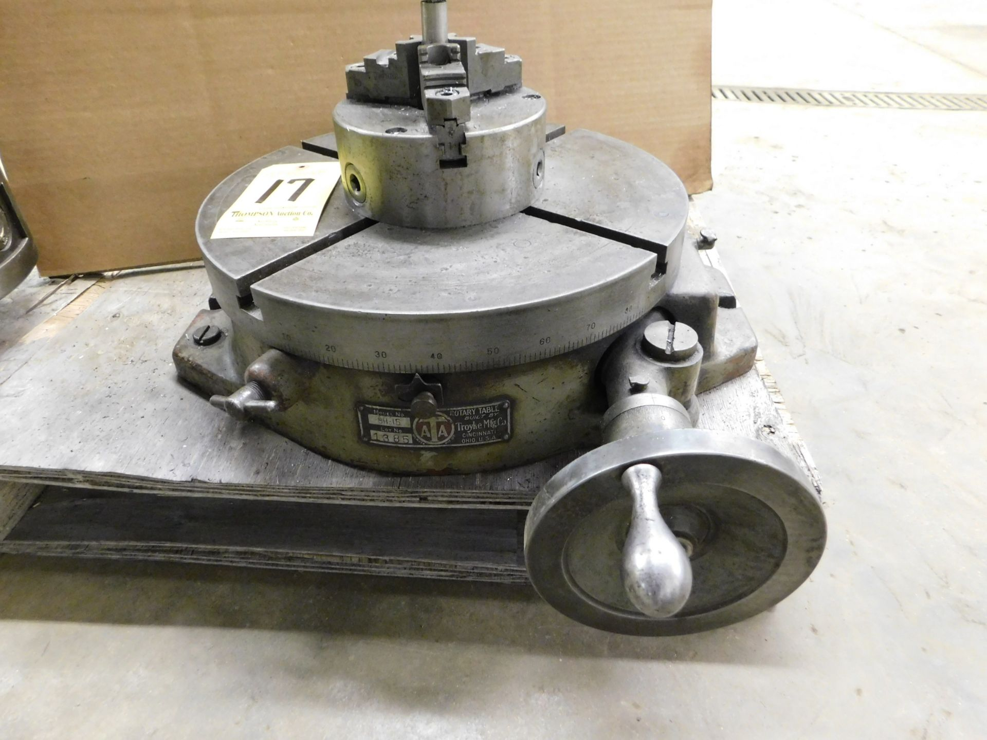 """Lot 17 - Troyke BH-15 15"""" Rotary Table with 6"""" 3-Jaw Chuck, Lot Location: 301 Poor Dr., Warsaw, IN, 46580"""