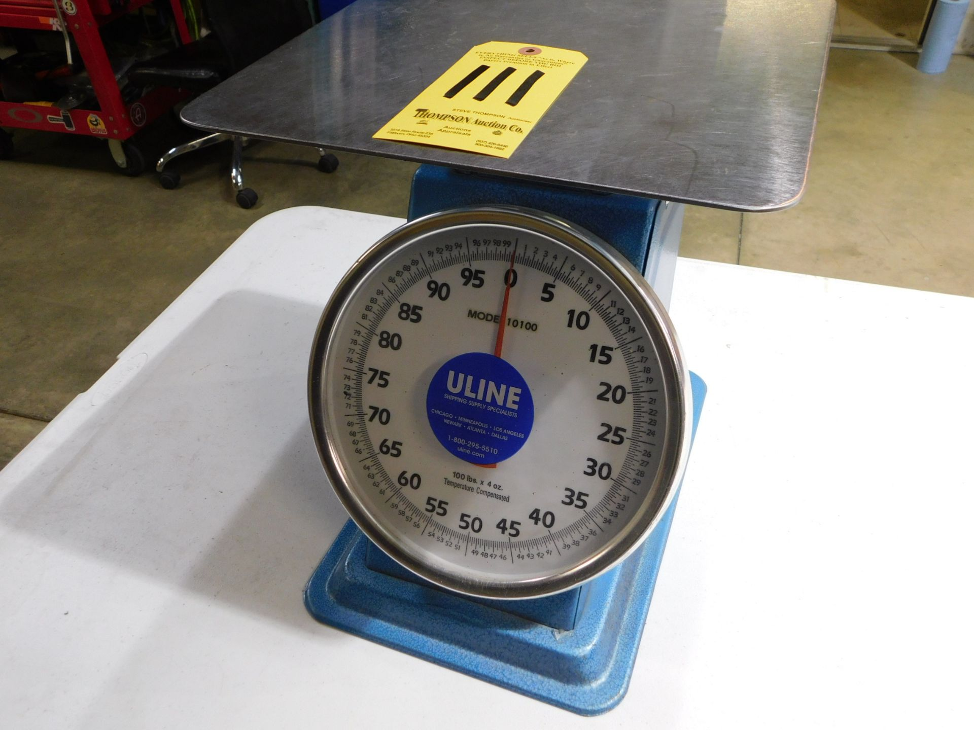 Lot 111 - U-Line Model 101000 Scale, 100 lb. Cap, Lot Location 3204 Olympia Dr. A, Lafayette, IN 47909