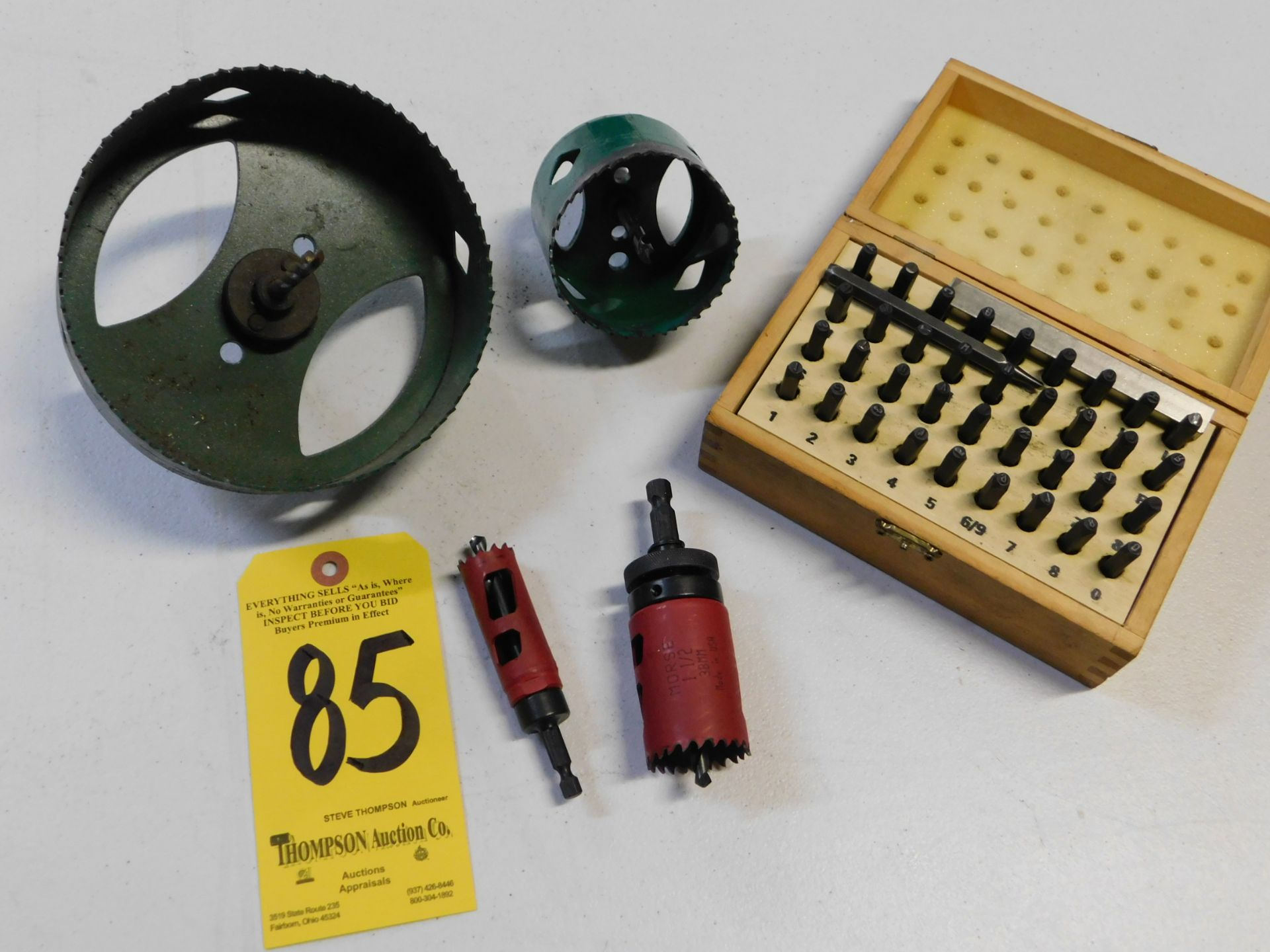 Lot 85 - Hole Saw and Letter and Number Set