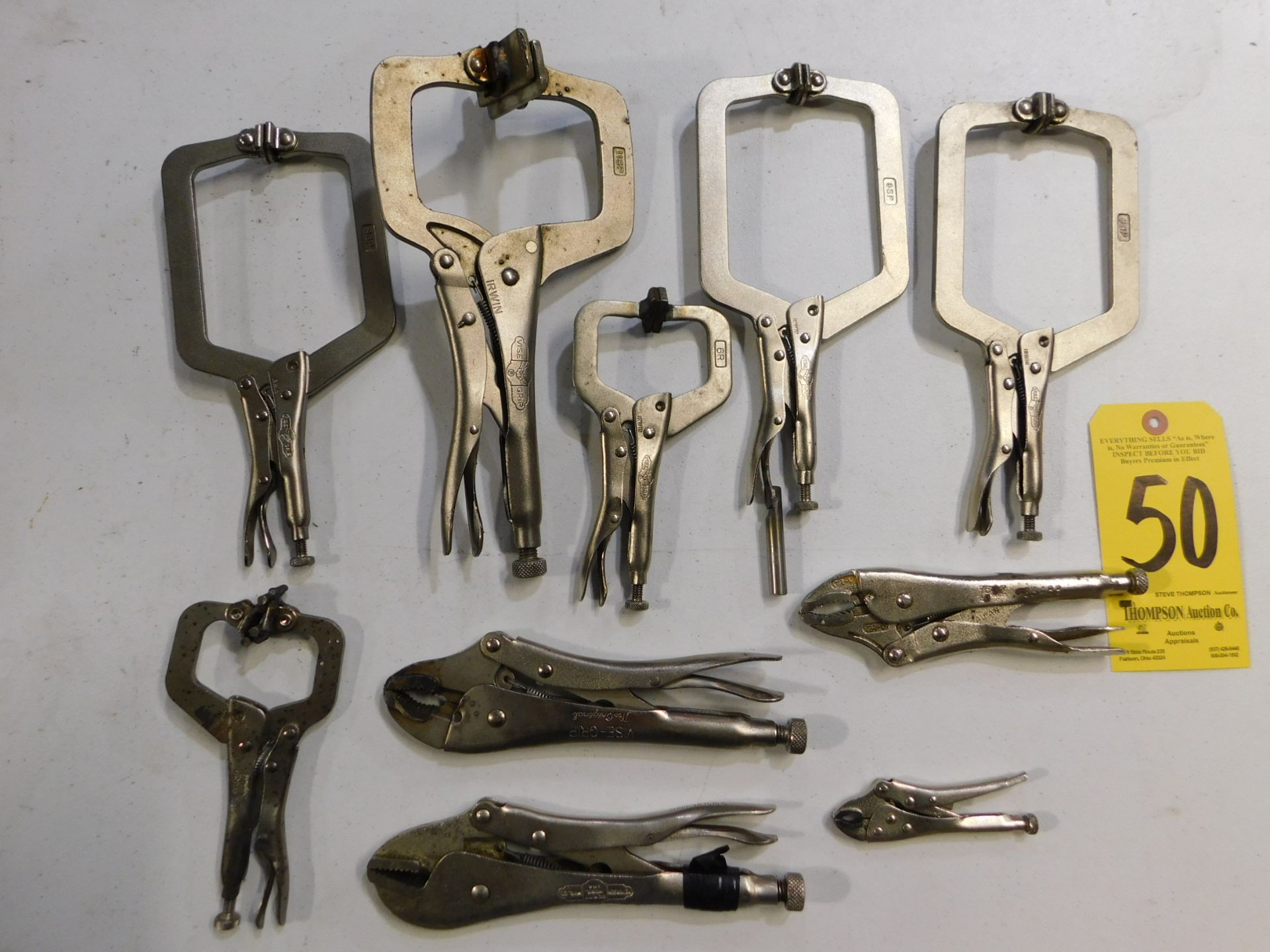 Lot 50 - Vise Grip Clamping Tools, Lot Location 3204 Olympia Dr. A, Lafayette, IN 47909