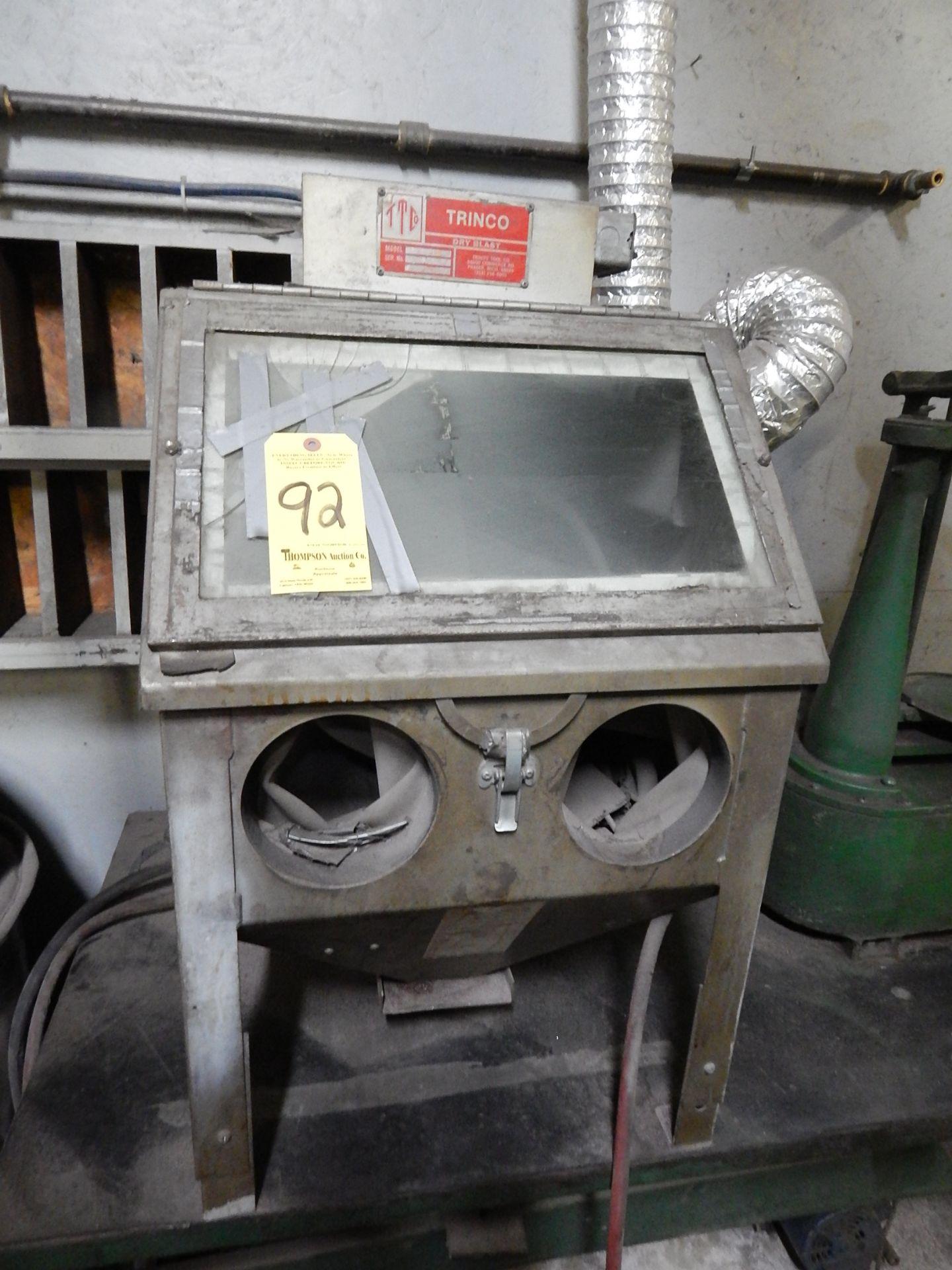 Lot 92 - Trinco Model 20 Sand Blast Cabinet