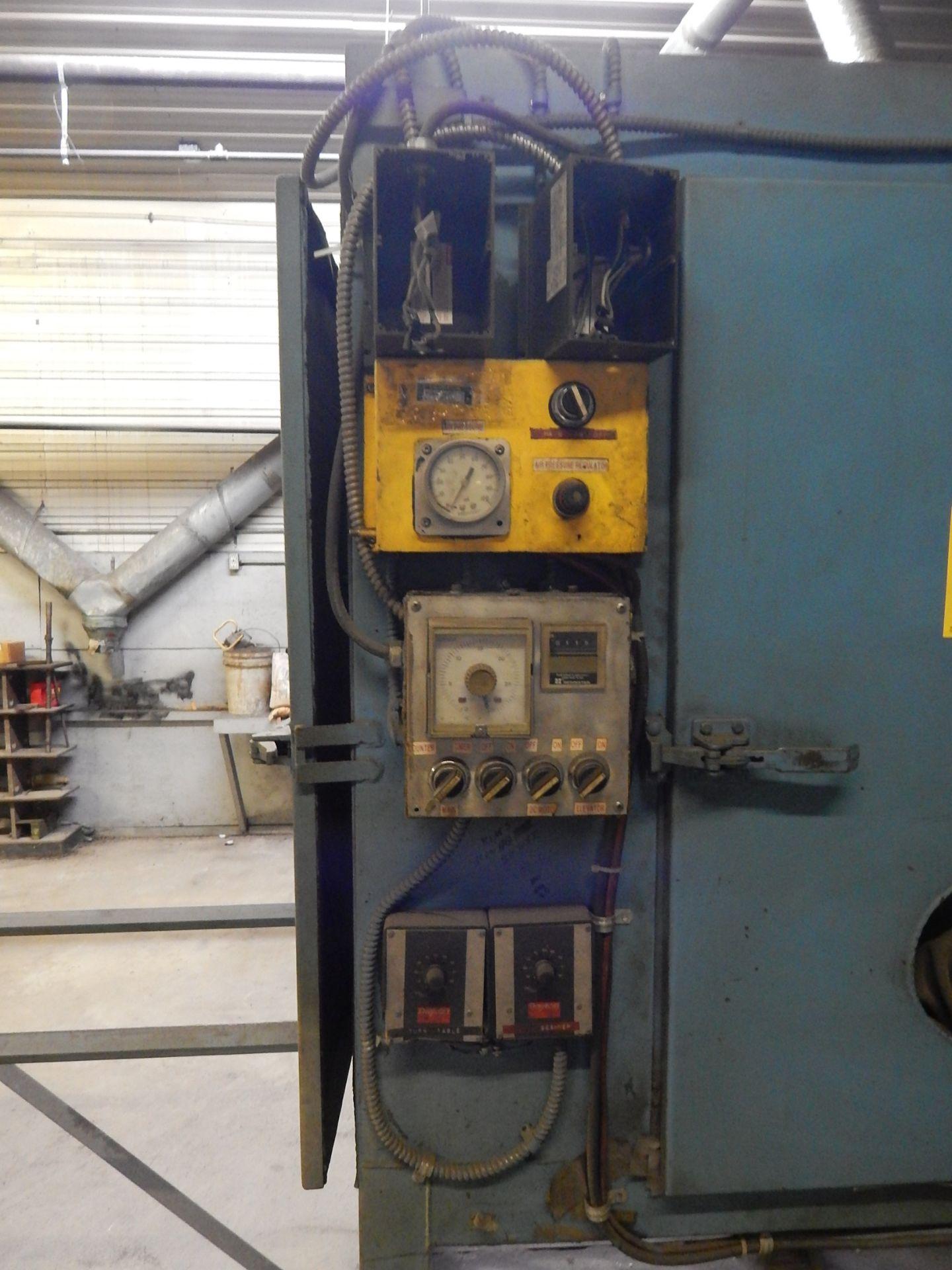 """Lot 85 - Shot Blast Cabinet, Semi Automatic, Turn Table, 46"""" X 46"""" X 72"""" Dimensions, Loading Fee $100.00"""