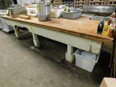 "Buctcher Block Top Table, 50"" x 144"" x 35"" H"