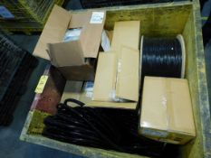 Assorted Heat Shrink, Conduit, Power Supply Cords, MIL Spec Wire and Coax Cable