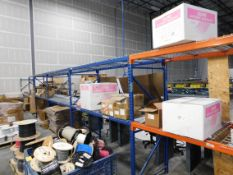 Contents of Pallet Racking, Corrugated Boxes, Packing Material, Components