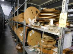 Shelving & Contents, Misc. Terminals and Contacts, Shelving 10'H x 4'W x 2'D, (8) Shelves, (7)