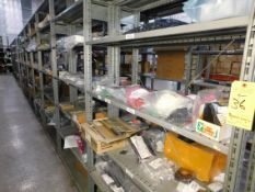 Shelving & Contents, Misc. PC Board Components/Hardware, Fuses, Leads, Resistors, Shelving 8'H x 4'W
