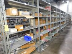 Shelving & Contents, Misc. Components, Circuit Boards, Shelving 8'H x 4'W x 1'D, (5) Shelves, (7)