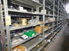 Shelving & Contents, Misc. Components, Shelving 10'H x 4'W x 1'D, (8) Shelves, (7) Sections
