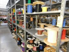 Shelving & Contents, Misc. Terminals and Contacts, Shelving 10'H x 4'W x 2'D, (8) Shelves, (6)