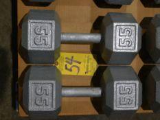 (2) Dumbbells, 55 lb.