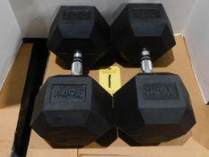 (2) York Dumbbells, 100 lb.