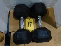 (2) York Dumbbells, 45 lb.