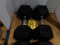 (2) York Dumbbells, 50 lb.