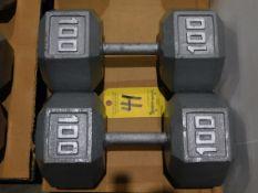 (2) Dumbbells, 100 lb.
