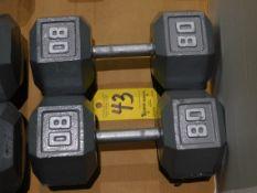(2) Dumbbells, 80 lb.
