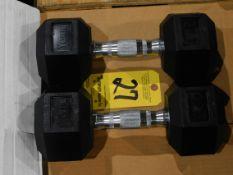 (2) York Dumbbells, 22.5 lb.