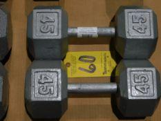 (2) Dumbbells, 45 lb.