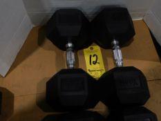 (2) York Dumbbells, 55 lb.