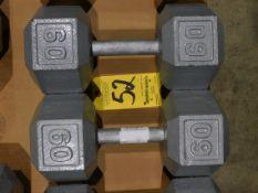 (2) Dumbbells, 60 lb.