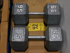 (2) Dumbbells, 95 lb.