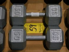 (2) Dumbbells, 50 lb.
