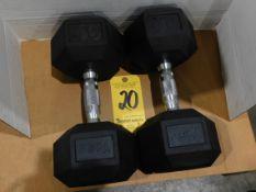 (2) York Dumbbells, 40 lb.