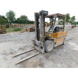 Caterpillar Model VC60D Forklift, SN 2MC969, 6,000 lb. Cap., LP, Solid Pneumatic Tires, 3-Stage