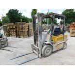 Yale Model GLP050RGEUAF086 Forklift, SN A875B28714B, 4,950 lb. Cap., LP, Solid Pneumatic Tires, 2-