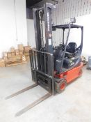 Linde Model E20P-02 Electric Forklift, SN H2X335PO2139, 4,400 lb. cap., 2-Stage Mast, Side Shift,