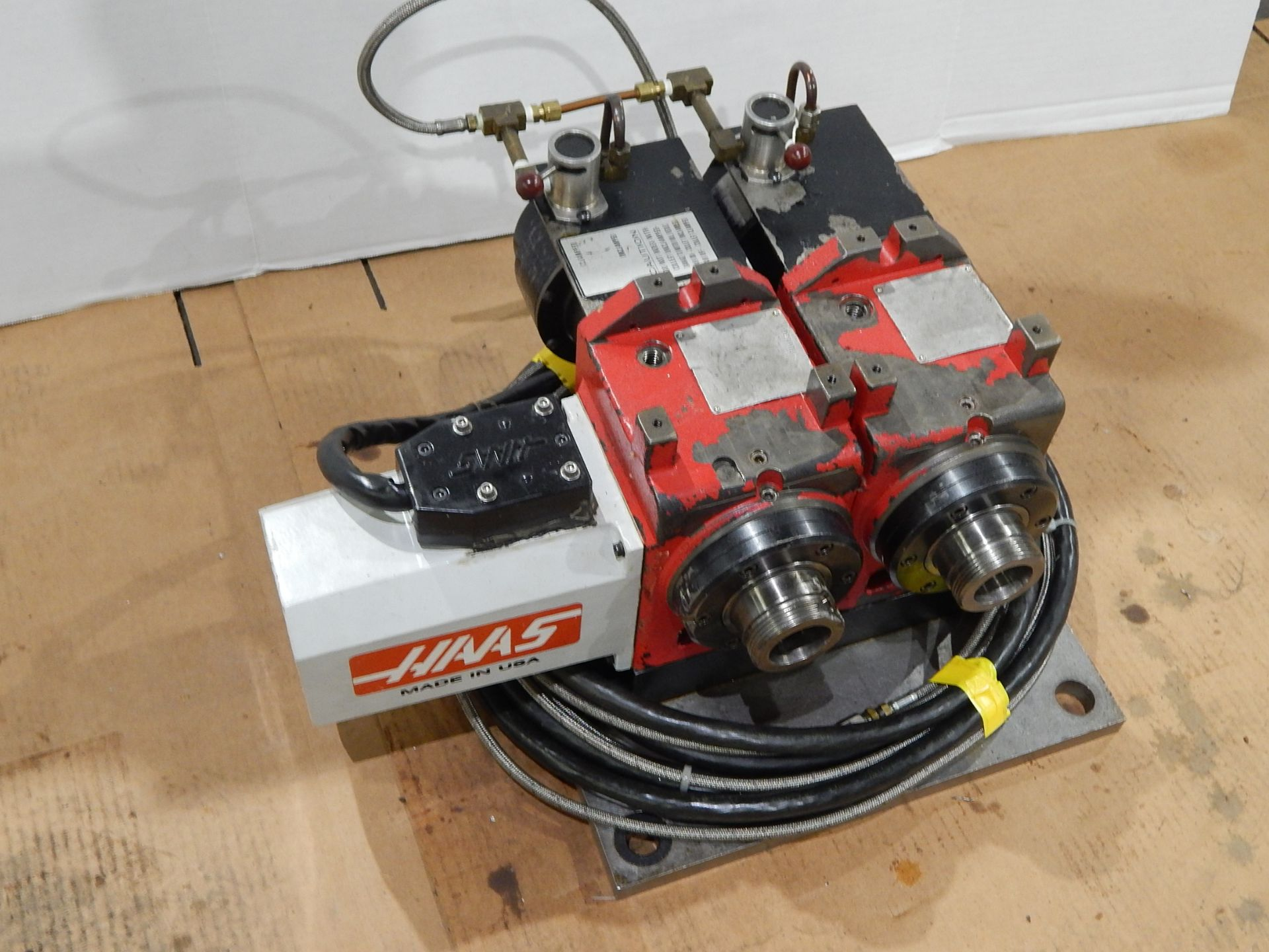 Haas HA5C-2 CNC Indexer, s/n 700130B, (2) 5C Programmable Spindles - Image 4 of 6