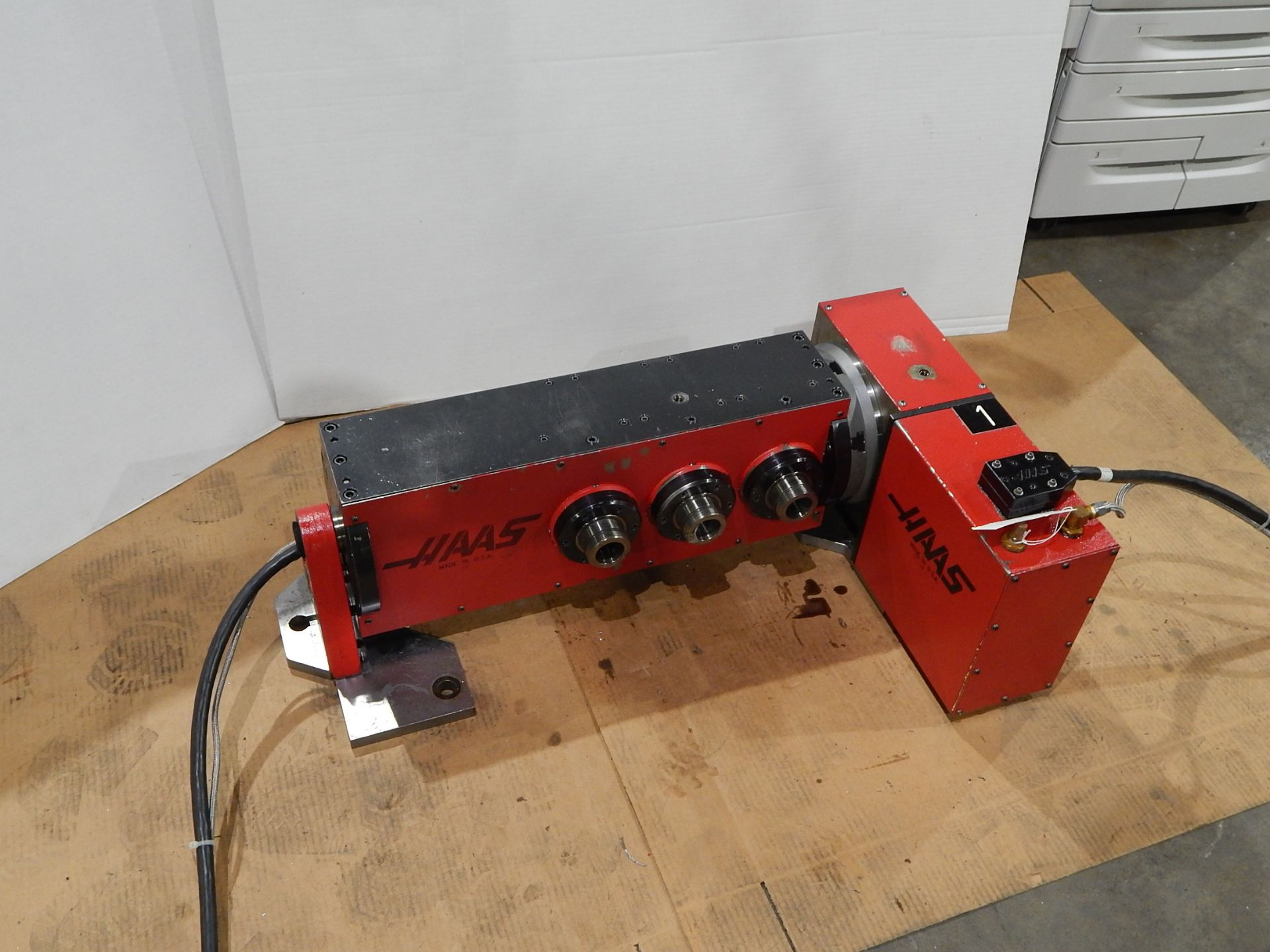Haas TSC-3 CNC Indexer, s/n 900226A, 4 and 5 Axis, Haas 4th Axis Tilt Rotary Table and (3) Haas 5C