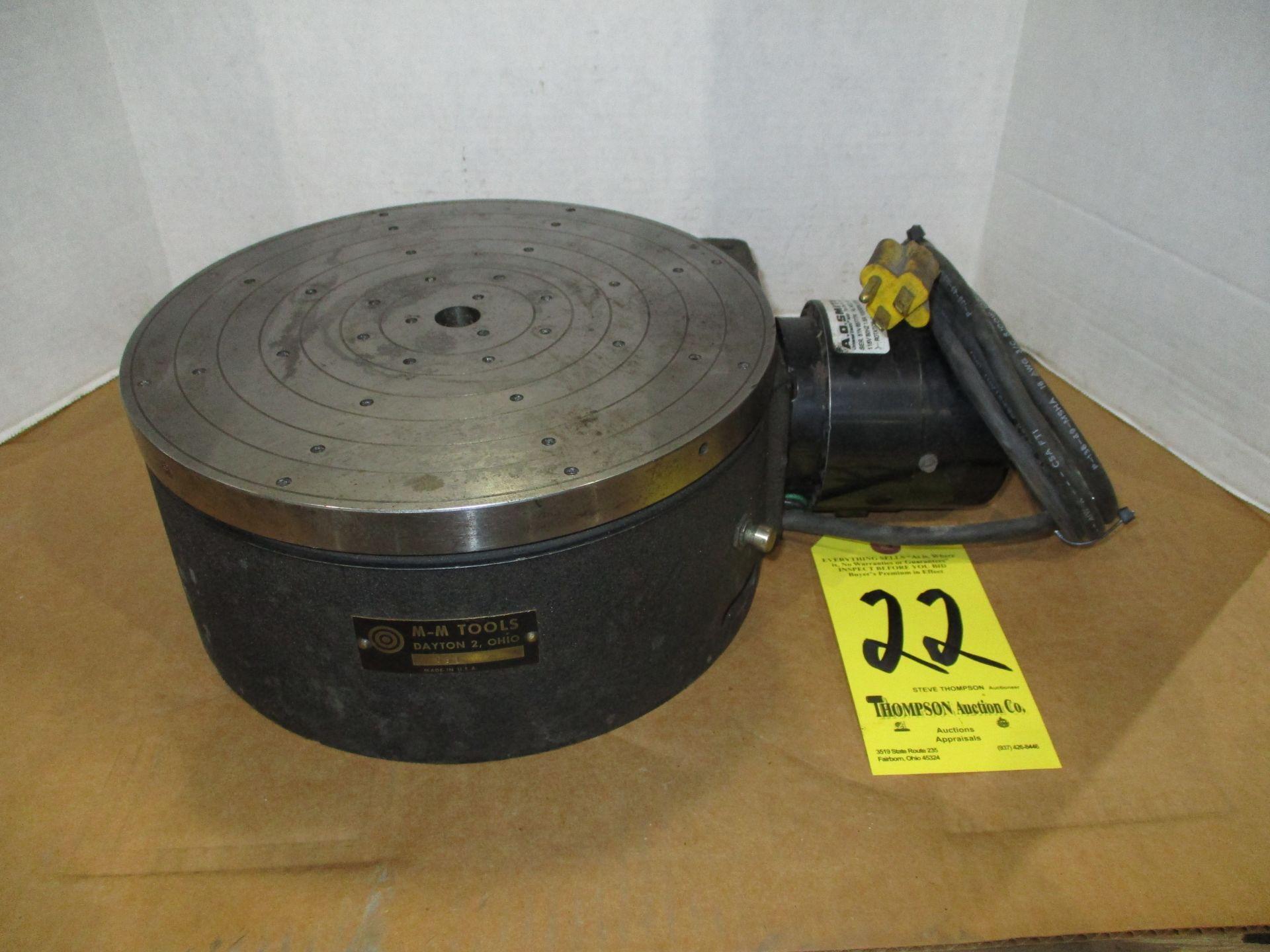 "M & M 10"" Diameter Motorized Rotary Table"