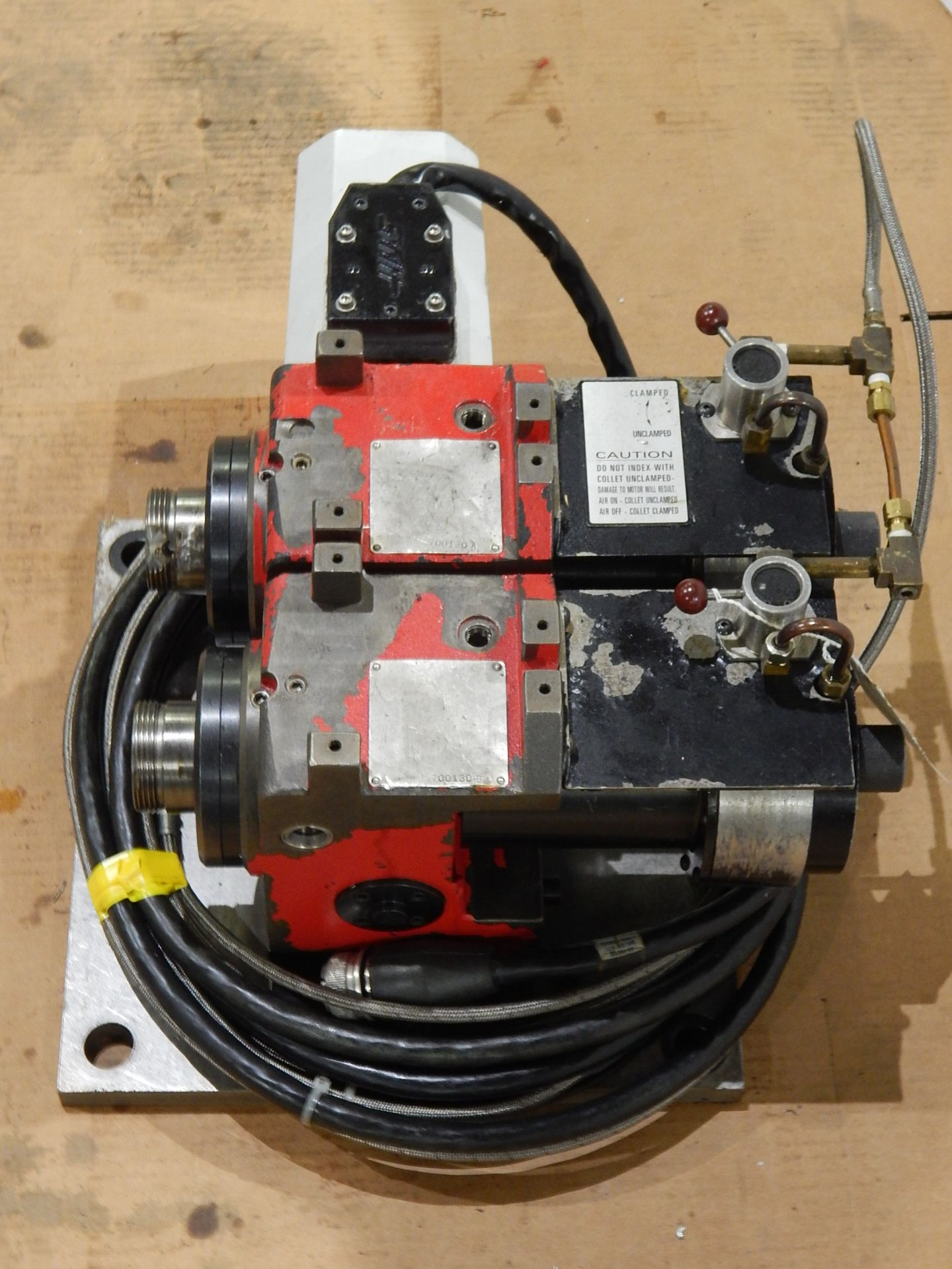 Haas HA5C-2 CNC Indexer, s/n 700130B, (2) 5C Programmable Spindles - Image 6 of 6
