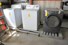 Lot-(1) Kenmore Gas Dryer, (1) Admiral and (1) Amana Electric Washing Machine