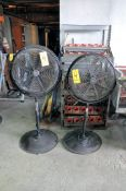 "Lot-(2) 18"" Pedestal Shop Fans"