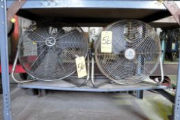 "Lot-(2) 16"" Portable Fans Under (1) Bench"