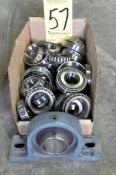 Lot-Bearings in (1) Box and (1) Pillow Block Bearing