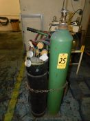 Oxy/Acet Cart with Torch, Hose, Regulators and Tanks