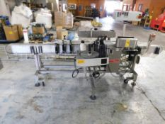 Barry Wehmiller Accraply Single Head Labeler, Model 35D,s/n 4691-03, New 2002, Head Model 330, Top