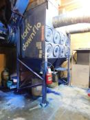Torit Donaldson Model DFT2-16, Eight Cartridge Down Flo Dust Collector, s/n IG356960-001, 30 HP