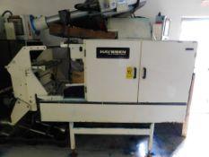 Hayssen Model 12-16 Form Fill & Seal Machine, s/n X16907, New 2000, with All Fill Cerebus Volumetric